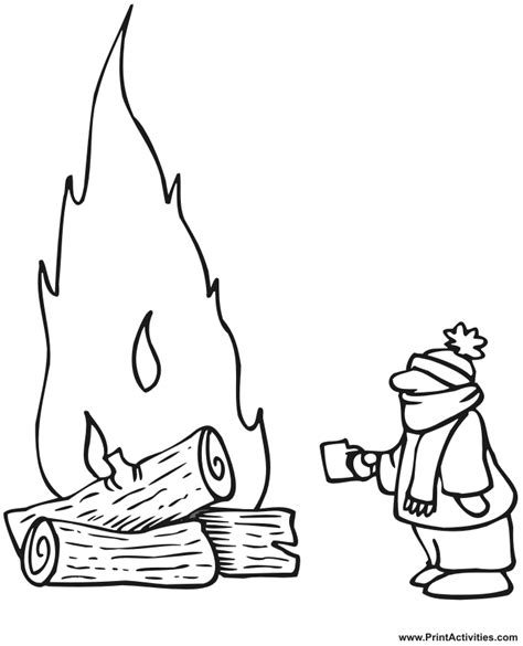 Bonfire Coloring Pages Coloring Pages Bonfire Colouring Pages