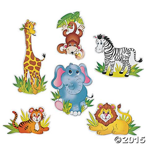 Jumbo Wall Stickers zoo animal large cutouts 6 pk party supplies canada open