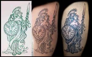 Roman Shaded - athena tattoo picture athena tattoo image