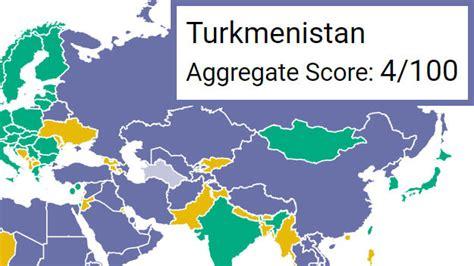 freedom house ratings туркменистан определен на 6 место с конца в рейтинге