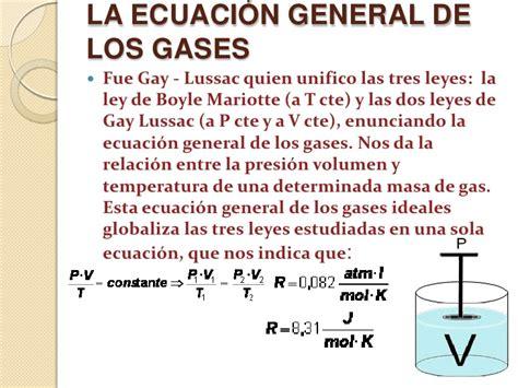 la ley de los ley general de los gases