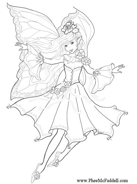 beautiful fairy coloring pages coloring home
