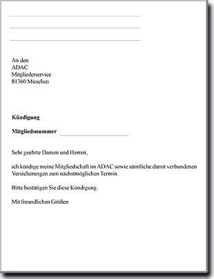 Muster Kündigung Versicherung Adac K 252 Ndigungsformulare Muster Comdirect Geldautomatensuche