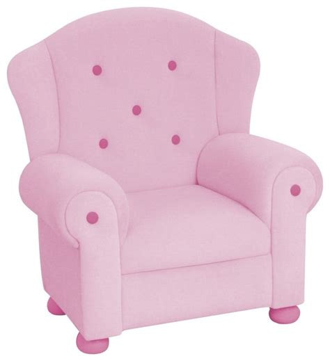 pink plush arm chair eclectic chairs