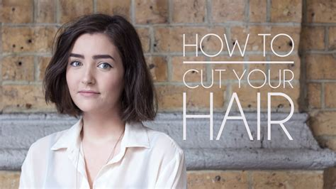 how to cut your own hair short hair bob youtube