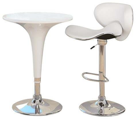 Indoor Bar Table Sonax Corliving Height Bar Table In White Gloss Midcentury Indoor Pub And Bistro Tables By