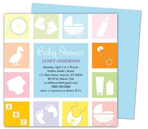 free templates for invitations mac baby shower invitations template blocks shower