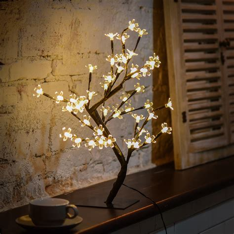 living tree lights out led cherry blossom desk bonsai tree light table twig