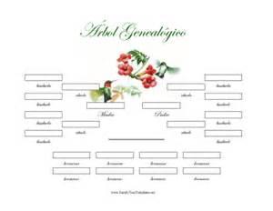 4 generacion arbol genealogico con hermanos template