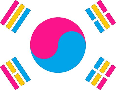 pansexual south korean flag  amature nascent  deviantart