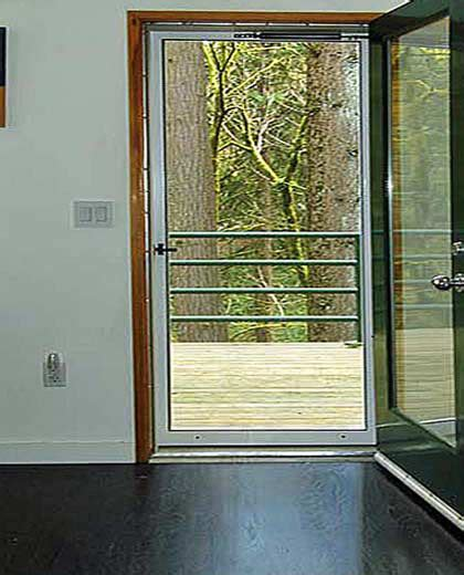 swinging screen doors swinging door screens mobile screens etc inc
