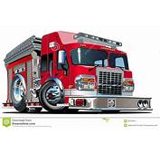 Vector Cartoon Fire Truck Stock Image  30318091