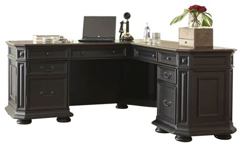 riverside allegro l desk and return riverside furniture allegro l desk and return in rubbed