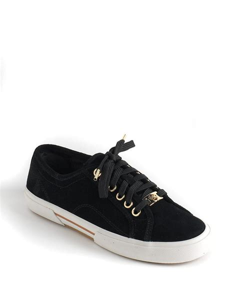 black michael kors sneakers michael michael kors boerum laceup sneakers in black lyst