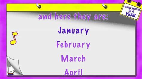 Calendar Song The 12 Months Of The Year Children S Song Calendar