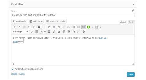 text layout wordpress plugin add a text widget with a visual editor to wordpress