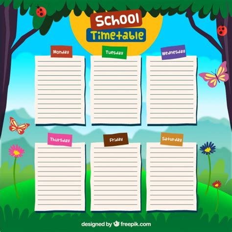My Picture Book Times Tables school timetable design vector free