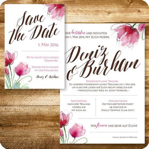 Einladungskarten Hochzeit Individuell by Einladungskarten Hochzeit Individuell Vorlagen Design