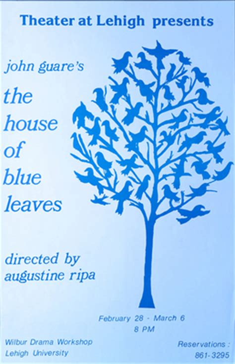 the house of blue leaves quot the house of blue leaves poster quot by richard gold