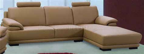 taupe leather match modern sectional sofa