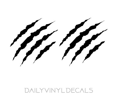 claw vinyl decals set of 2 decals choose size amp color
