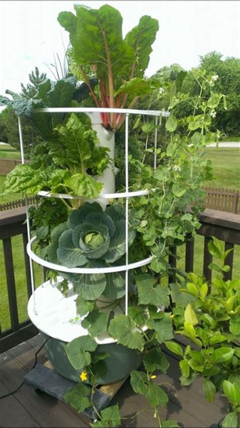 build your own tower garden grow vegetables fruits herbs