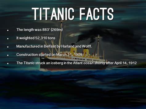 film titanic facts titanic by olivia whitaker