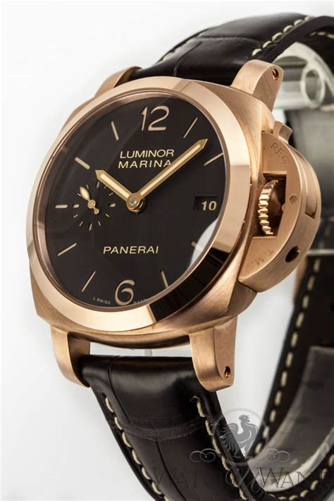 Replika Panerai Luminor Marina Pam 393 Gold panerai radiomir gold price