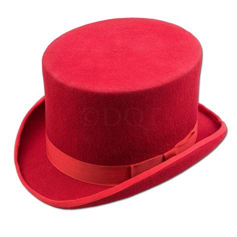 Redhat L by New Dqt Plain S 100 Wool Felt Top Hat Ebay