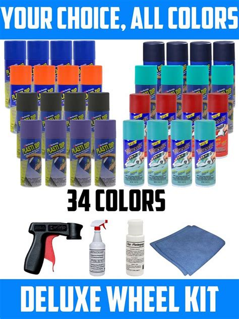 plasti dip spray can colors performix plasti dip spray deluxe wheel kit all 34