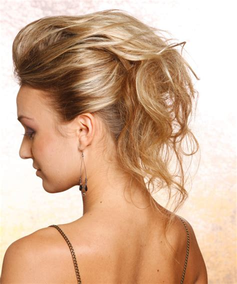 up styles for long straight hair straight casual updo hairstyle dark blonde hair color