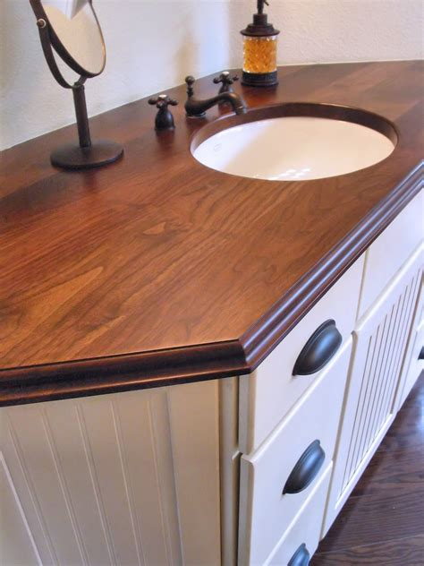 wood bathroom countertops walnut face grain wood vanity countertop