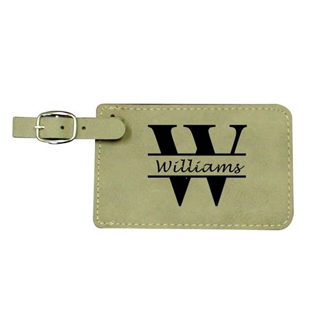 printable monogram luggage tags personalized luggage tags tan leather custom monogrammed