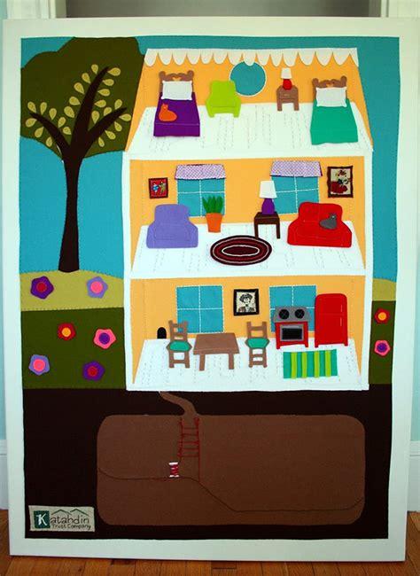 felt doll house diy felt board dollhouse decoist