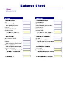 Balance Sheet Template Free by Balance Sheet