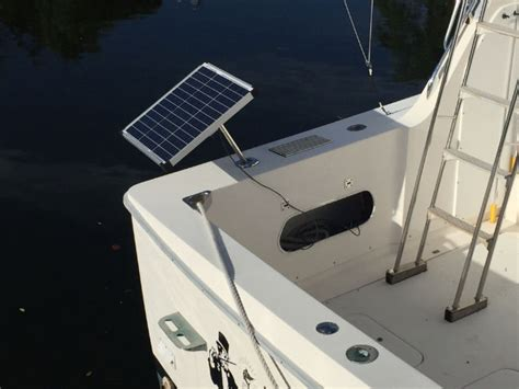mounting battery charger on boat solar fishing pole 30w 12vdc battery charger e marine