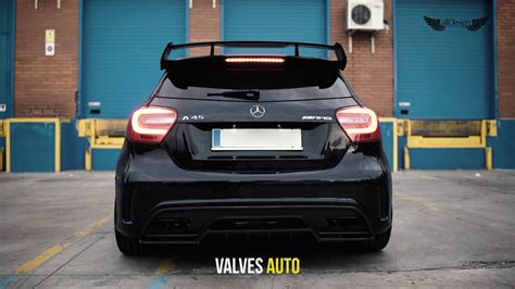 mercedes a45 amg exhaust mercedes a45 amg w176 armytrix turbo back valvetronic