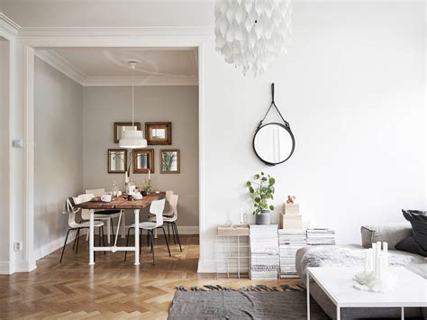 home interior mirror decordots scandinavian apartment with a romantic touch