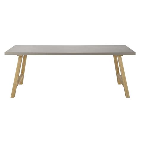 How To Cover Dining Room Chairs waxed concrete effect dining table w 220cm vermont