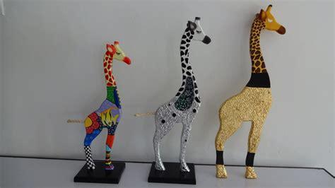 imagenes de jirafas en madera country jirafas decoradas madera 75 000 en mercado libre