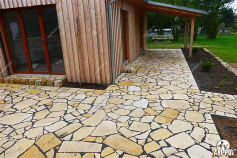 Polygonalplatten Terrasse Verlegen by Verschnittplatten