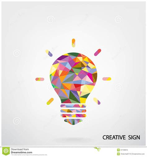 design concept background colorful creative light bulb sign royalty free stock photo