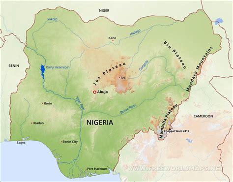 nigeria africa map nigeria physical map