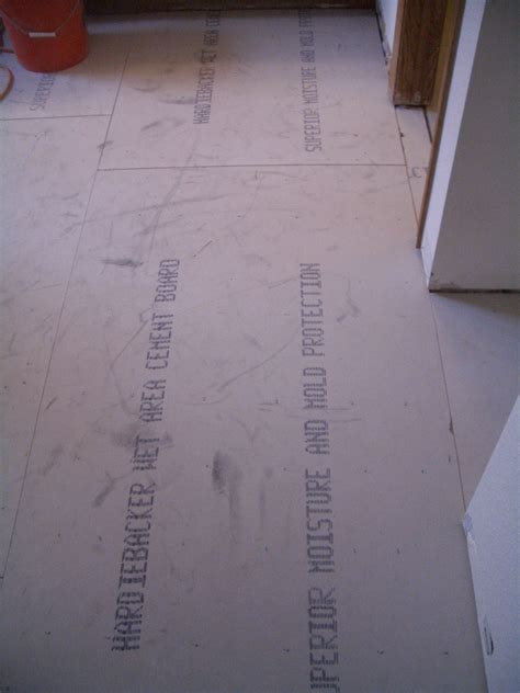Installing Hardie Board Floor by How To Install Cement Backerboard For Floor Tile