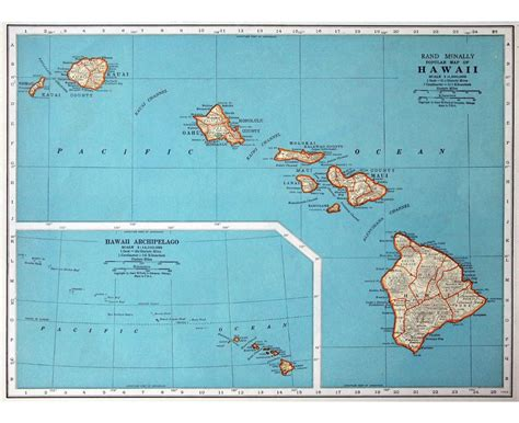 usa map with hawaii maps of hawaii state collection of detailed maps of
