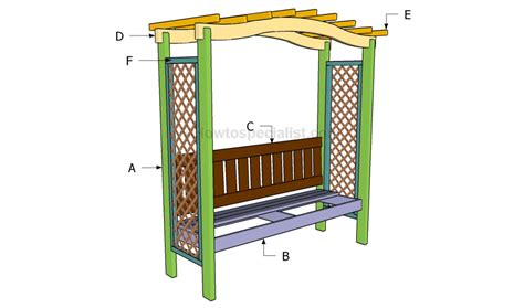 arbor bench plans how to build an arbor bench howtospecialist how to
