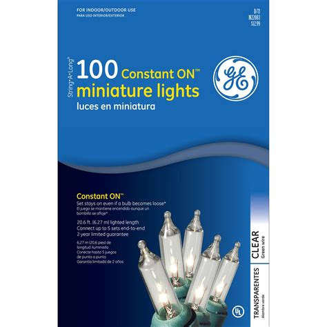 Upc 803993644264 Ge Constant On Light Set Clear 100 Ct Set Of 100 Clear Constanton