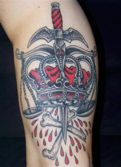old crown tattoo by aloha monkey tattoo