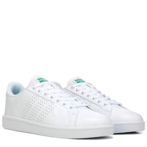 Adidas Neo Advantage Cleans Whitewhitegreen Original adidas neo cloudfoam advantage clean sneaker white green