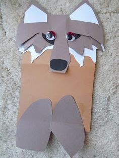 Wolf Paper Plate Craft - craft wolf paperbag puppet big bad wolf 3